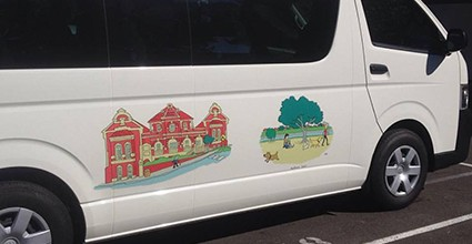 Illustrations for a Free Community bus: