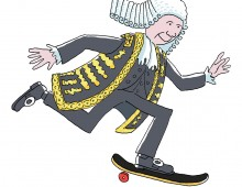 A Lord on a skateboard
