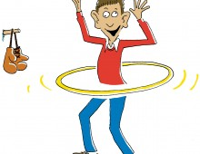A nincompoop with a hula hoop
