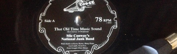 78rpm record sleeve design: Mic Conway's National Junk Band